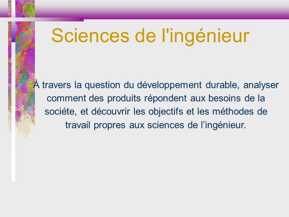 Sciences de l ingénieur