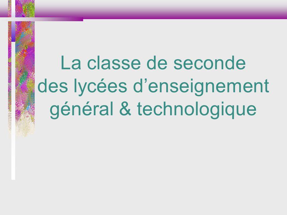 des lycées d'enseignement général & technologique