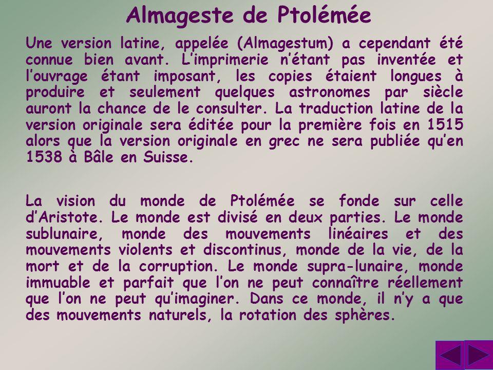 Almageste de Ptolémée