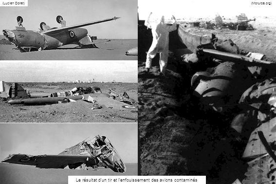 Le résultat d'un tir et l'enfouissement des avions contaminés