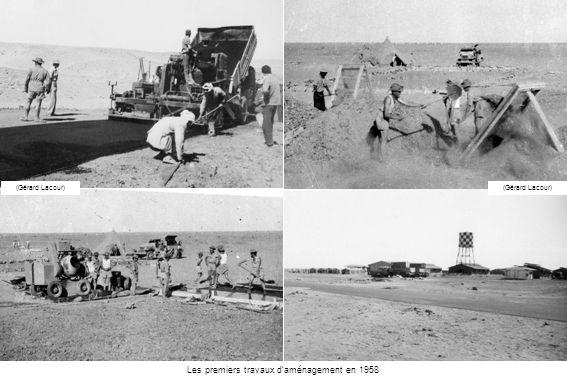 Les premiers travaux d'aménagement en 1958