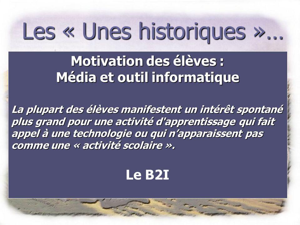 Motivation des élèves : Média et outil informatique