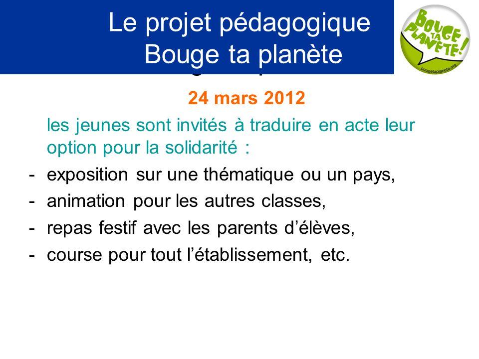 Le projet pédagogique Bouge ta planète