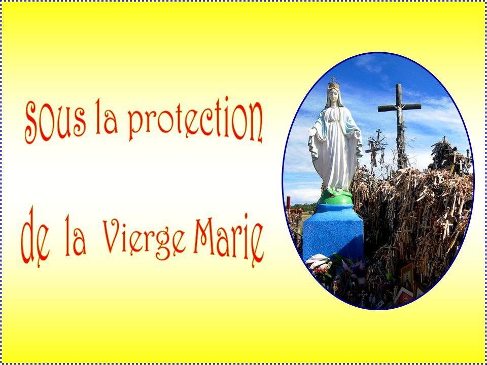sous la protection . de la Vierge Marie .