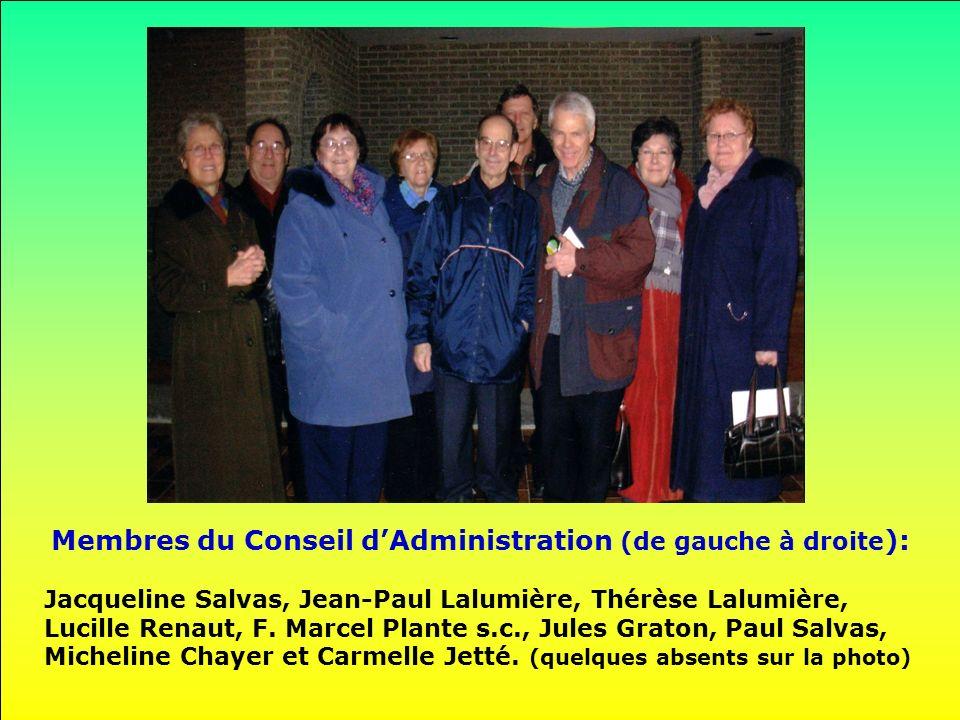Membres du Conseil d'Administration (de gauche à droite):