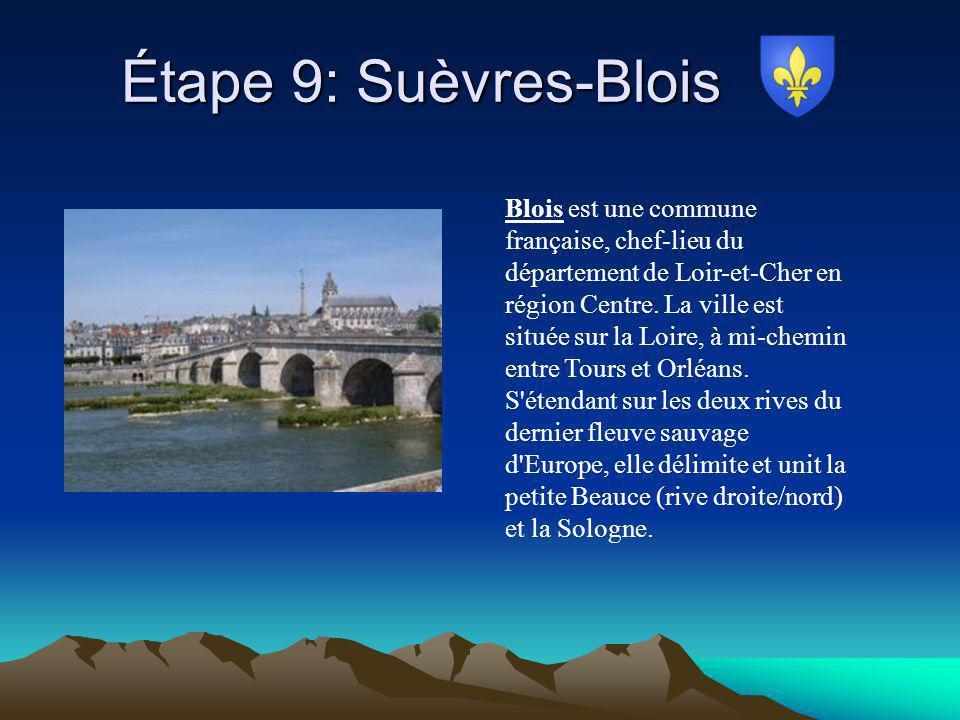 Étape 9: Suèvres-Blois
