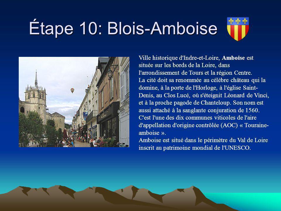 Étape 10: Blois-Amboise