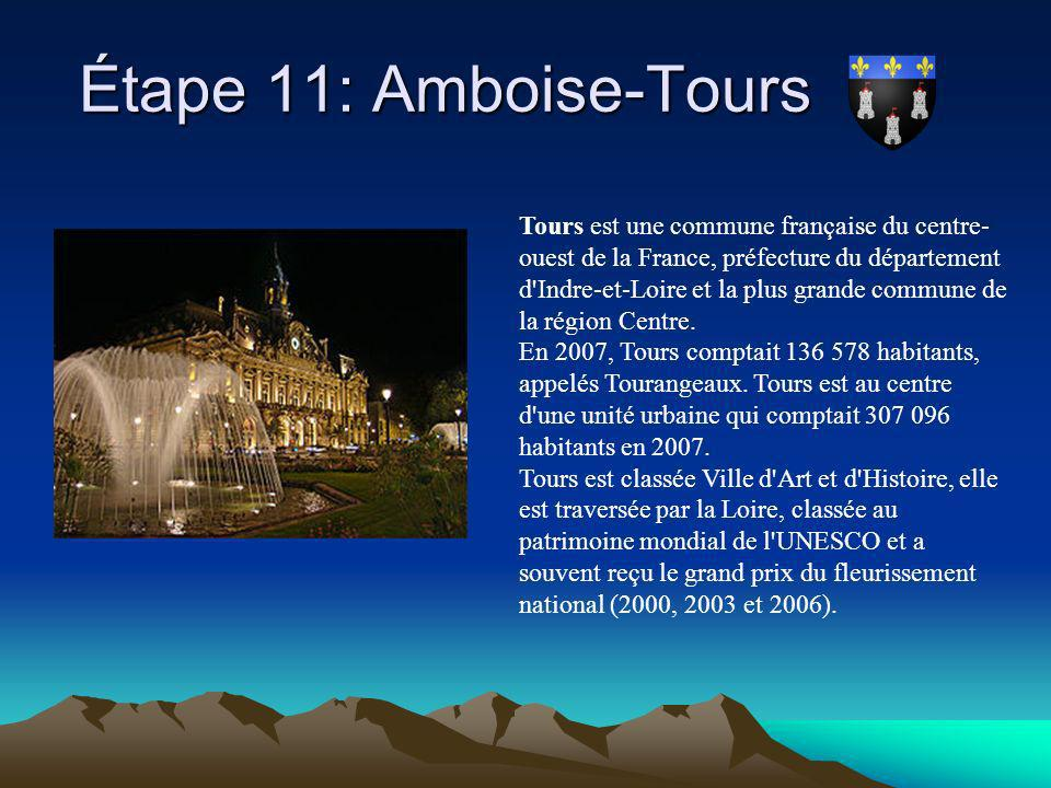 Étape 11: Amboise-Tours