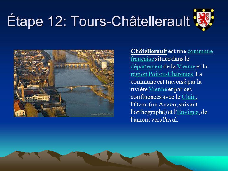 Étape 12: Tours-Châtellerault