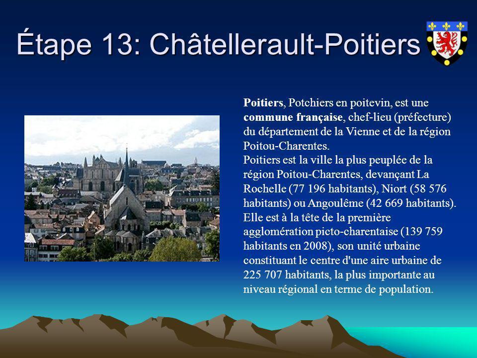 Étape 13: Châtellerault-Poitiers