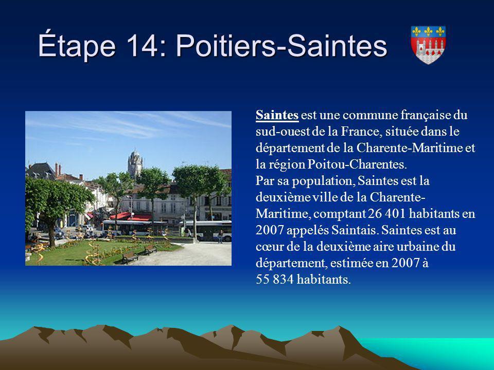 Étape 14: Poitiers-Saintes