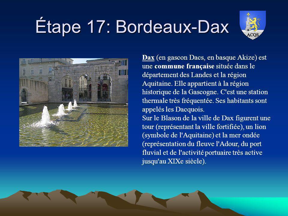 Étape 17: Bordeaux-Dax