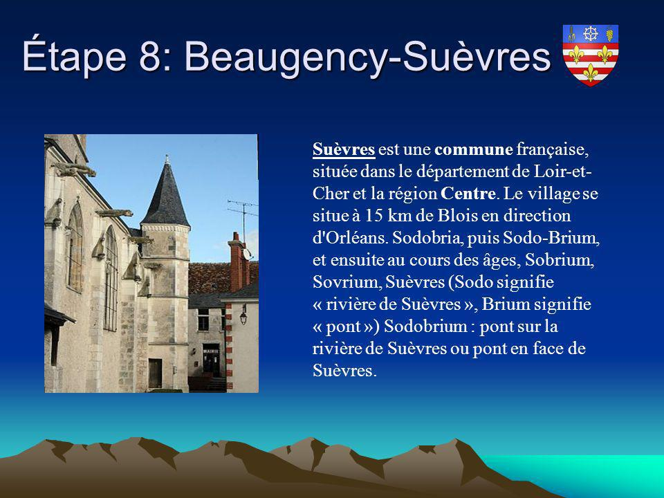 Étape 8: Beaugency-Suèvres