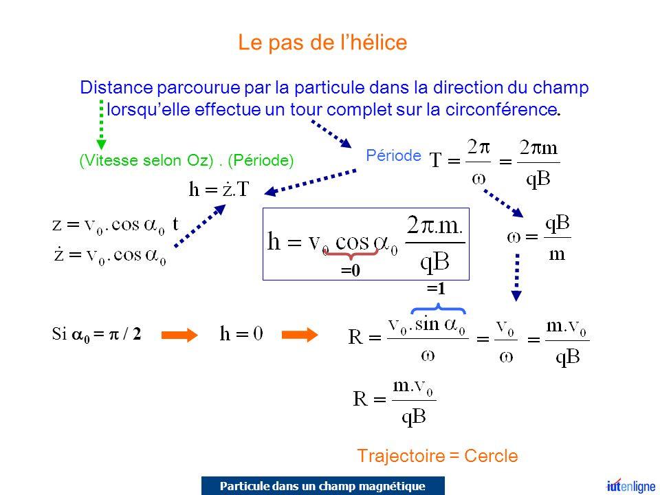 Particule dans un champ magnétique