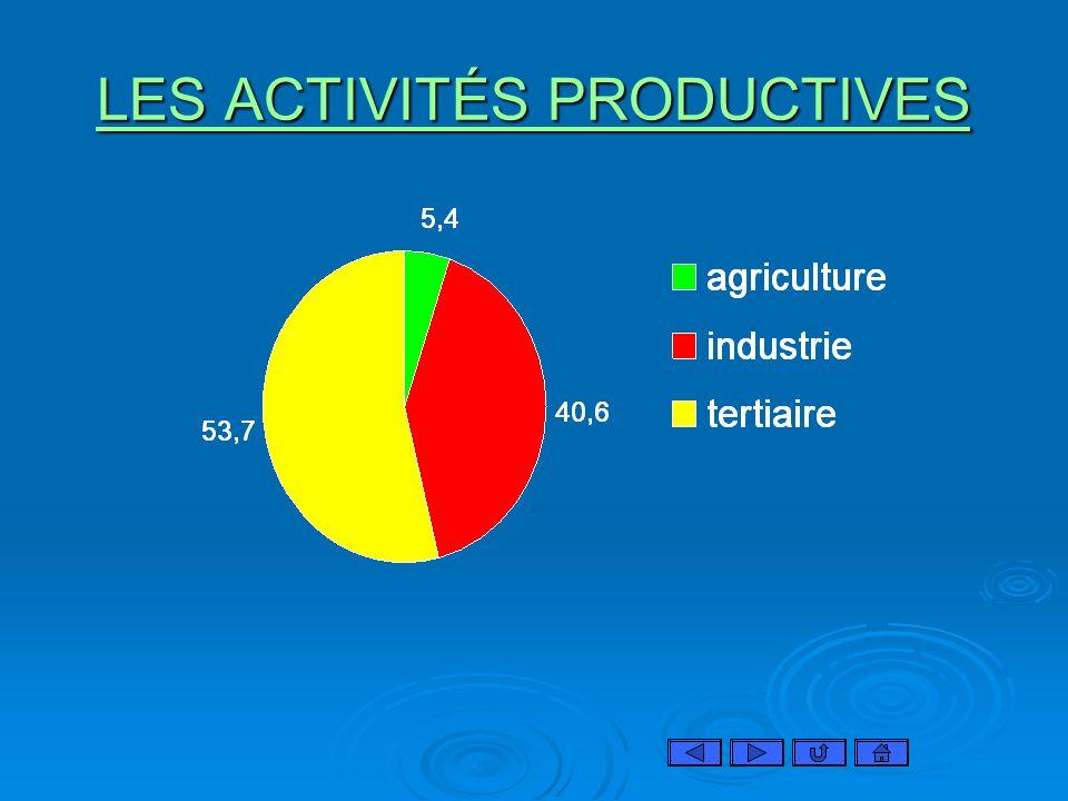 LES ACTIVITÉS PRODUCTIVES