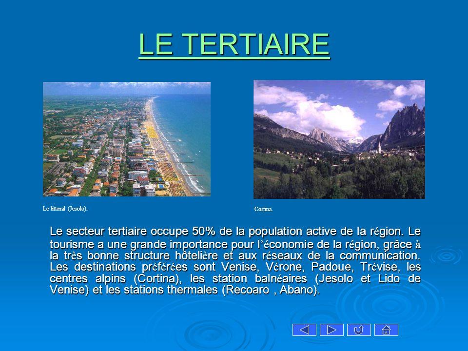 LE TERTIAIRE Le littoral (Jesolo). Cortina.