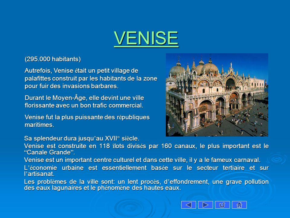 VENISE (295.000 habitants)
