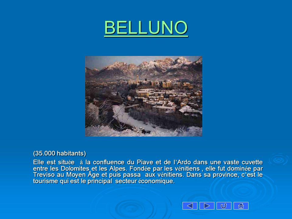 BELLUNO (35.000 habitants)
