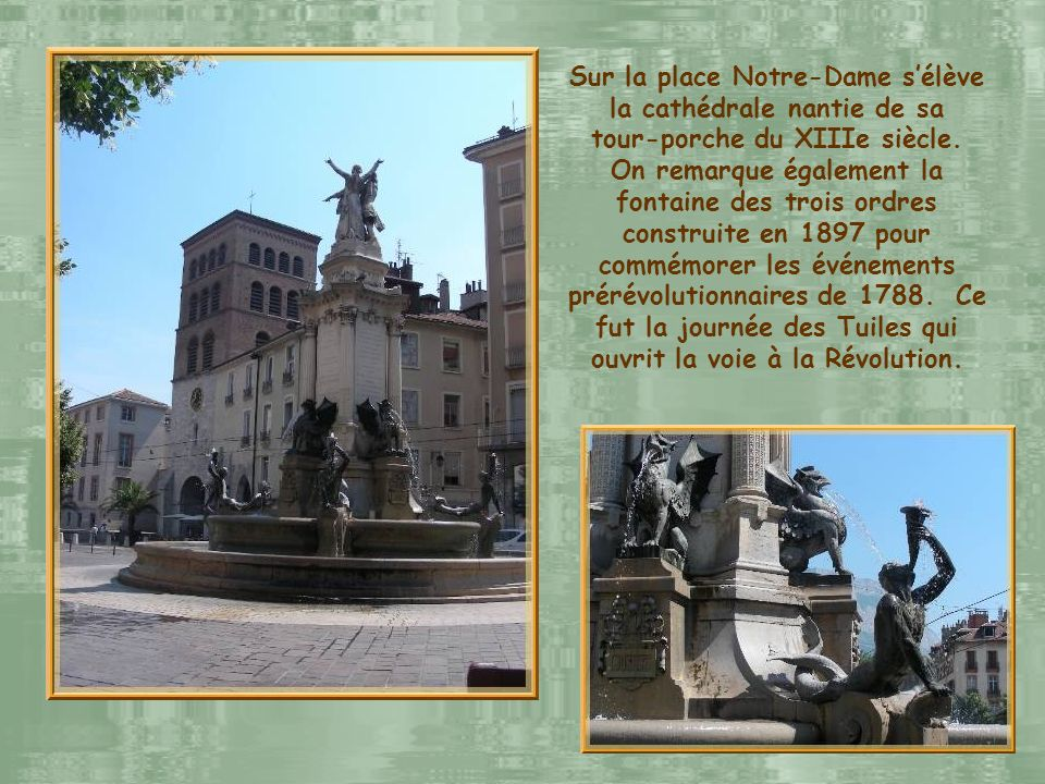 Sur la place Notre-Dame s'élève la cathédrale nantie de sa