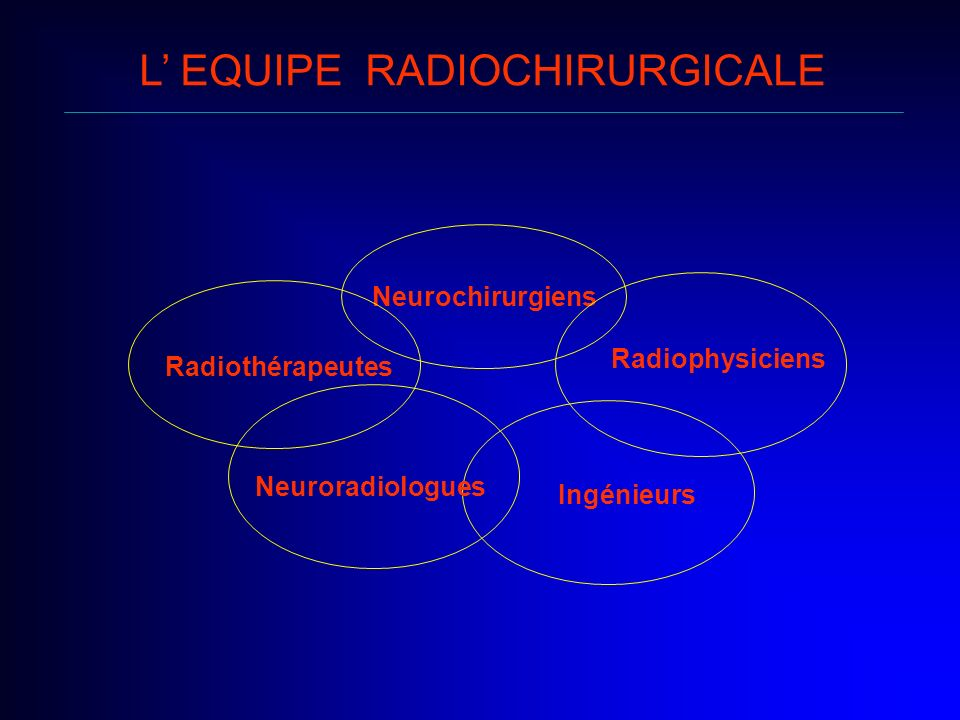 L' EQUIPE RADIOCHIRURGICALE