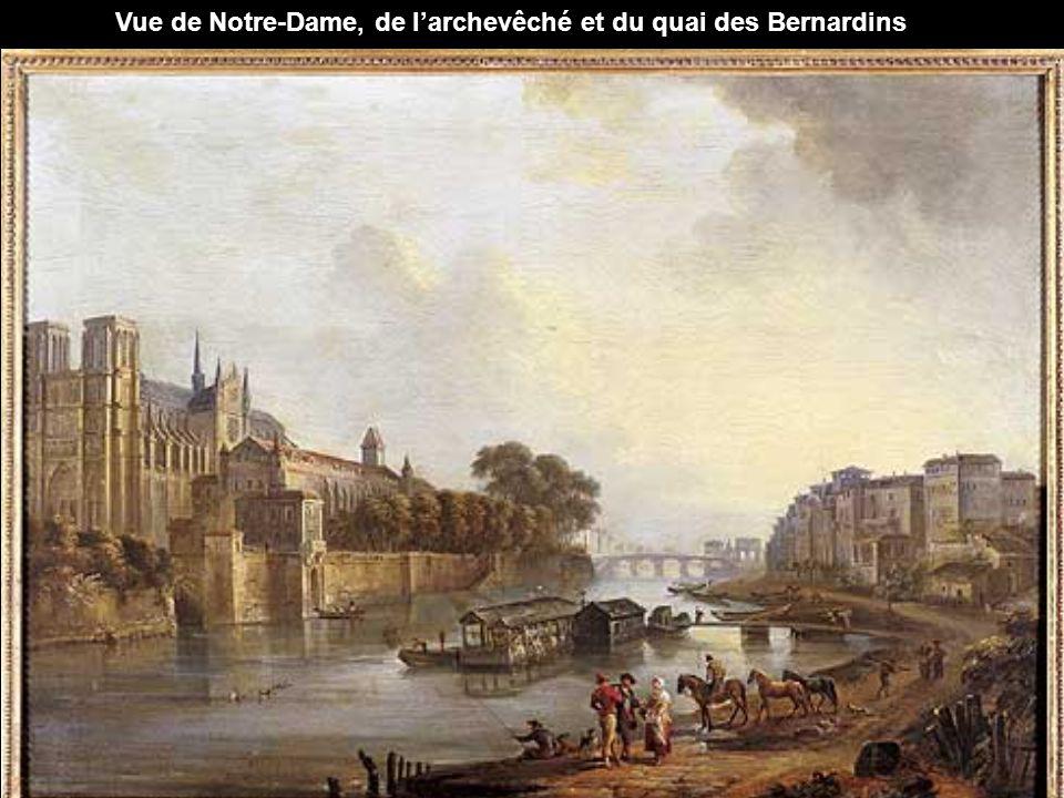 Vue de Notre-Dame, de l'archevêché et du quai des Bernardins