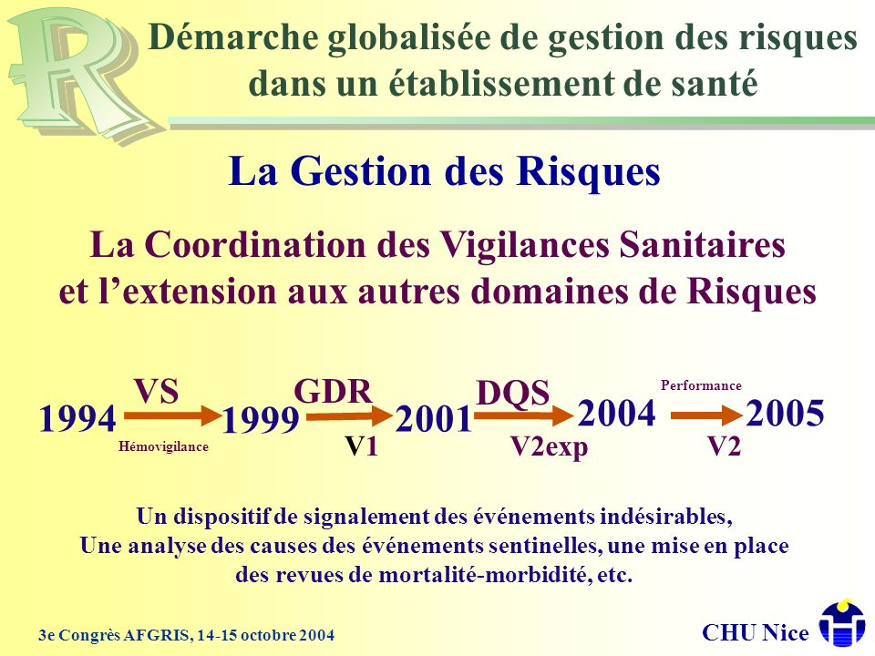 La Gestion des Risques Démarche globalisée de gestion des risques