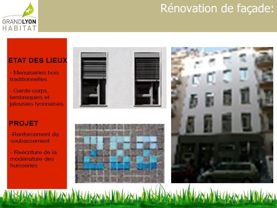 Rénovation de façade: