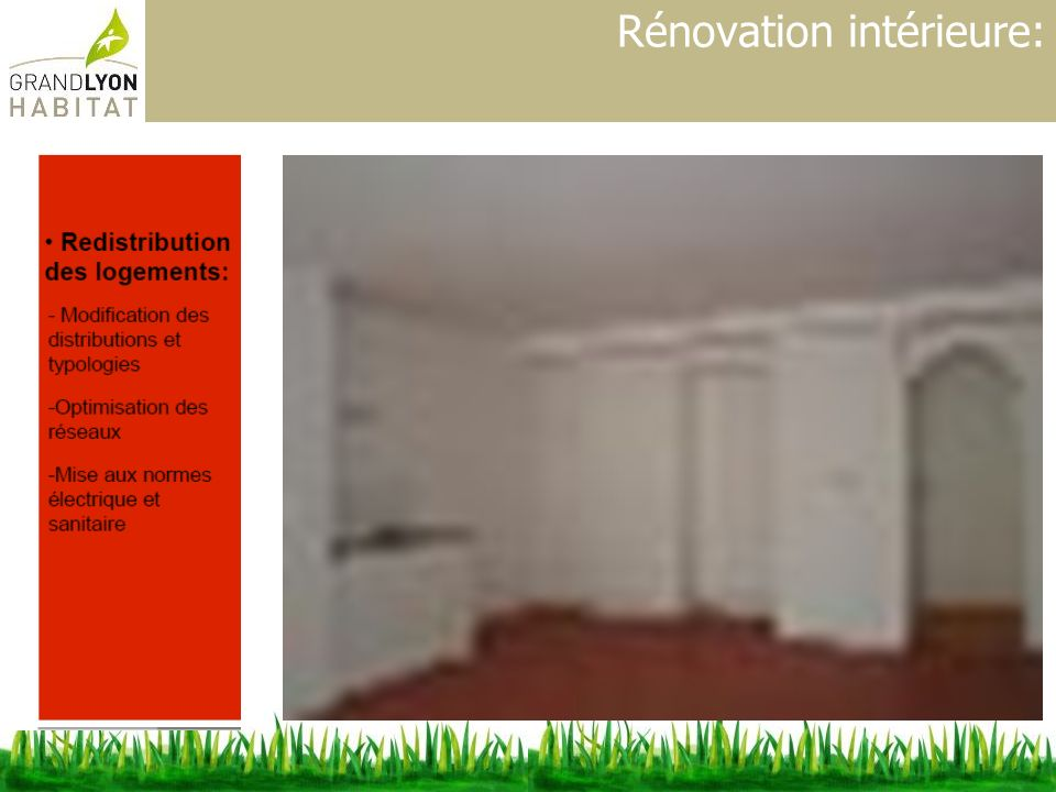 Rénovation intérieure:
