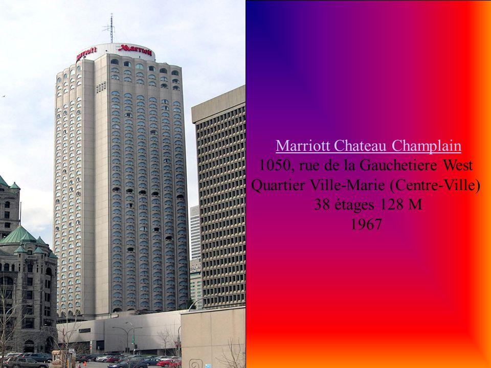 Marriott Chateau Champlain 1050, rue de la Gauchetiere West Quartier Ville-Marie (Centre-Ville)