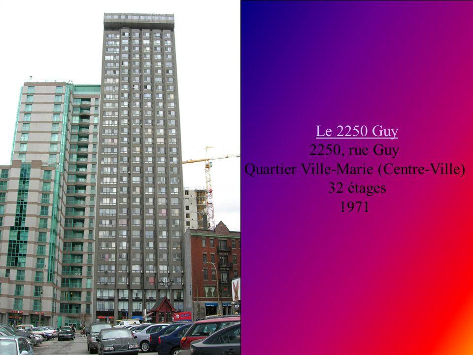 Le 2250 Guy 2250, rue Guy Quartier Ville-Marie (Centre-Ville)