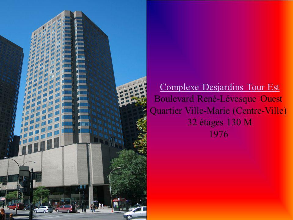 Complexe Desjardins Tour Est Boulevard René-Lévesque Ouest Quartier Ville-Marie (Centre-Ville)