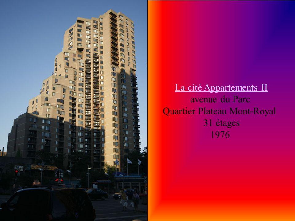 La cité Appartements II avenue du Parc Quartier Plateau Mont-Royal