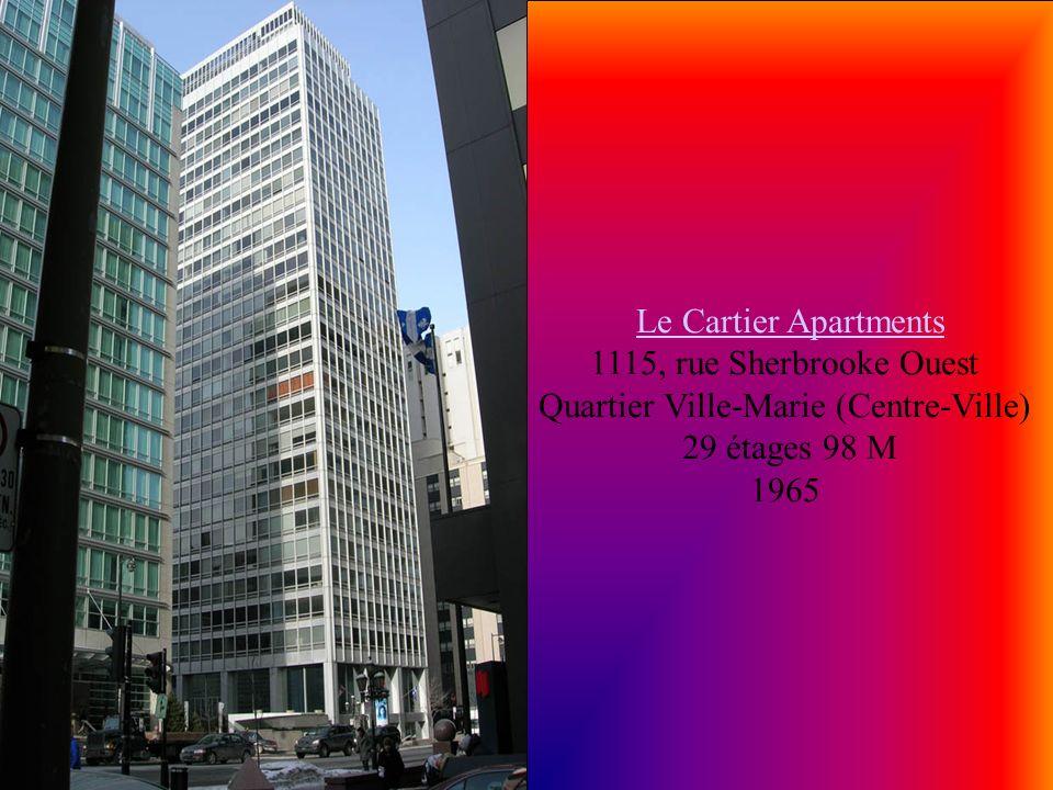 Le Cartier Apartments 1115, rue Sherbrooke Ouest Quartier Ville-Marie (Centre-Ville)