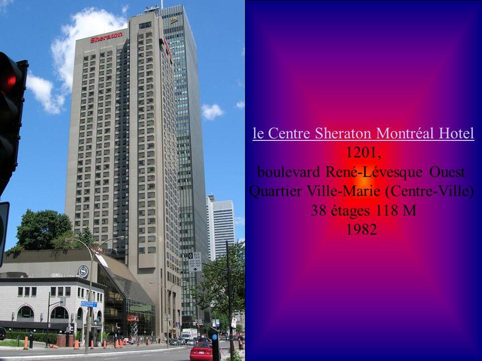 le Centre Sheraton Montréal Hotel 1201,