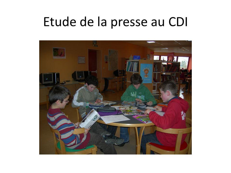 Etude de la presse au CDI