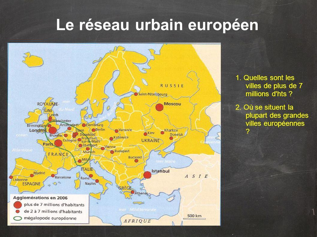 Le réseau urbain européen