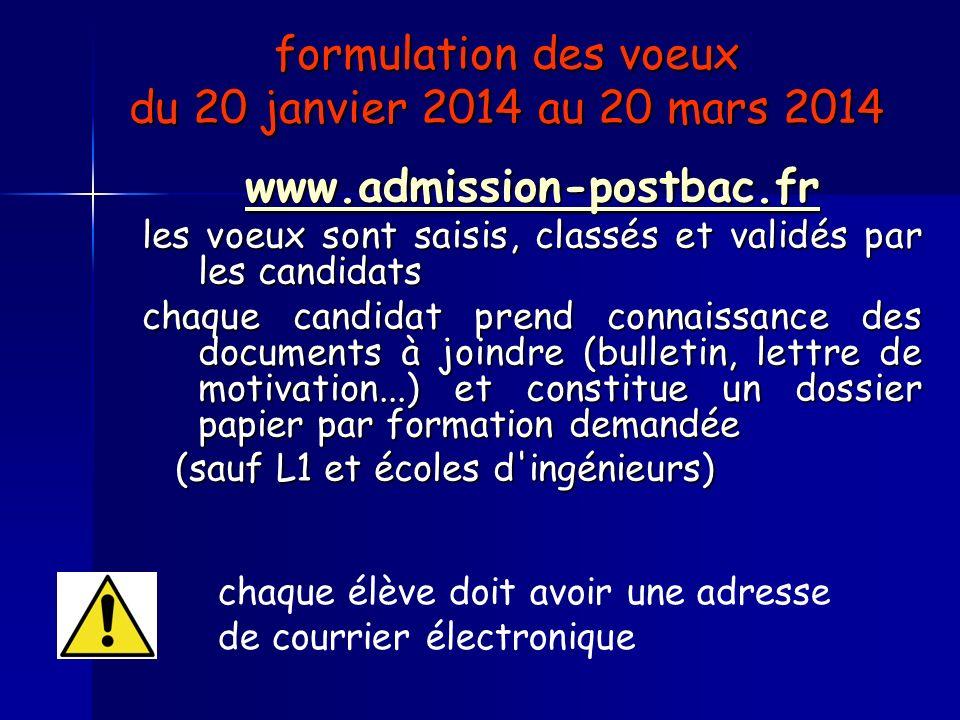 formulation des voeux du 20 janvier 2014 au 20 mars 2014