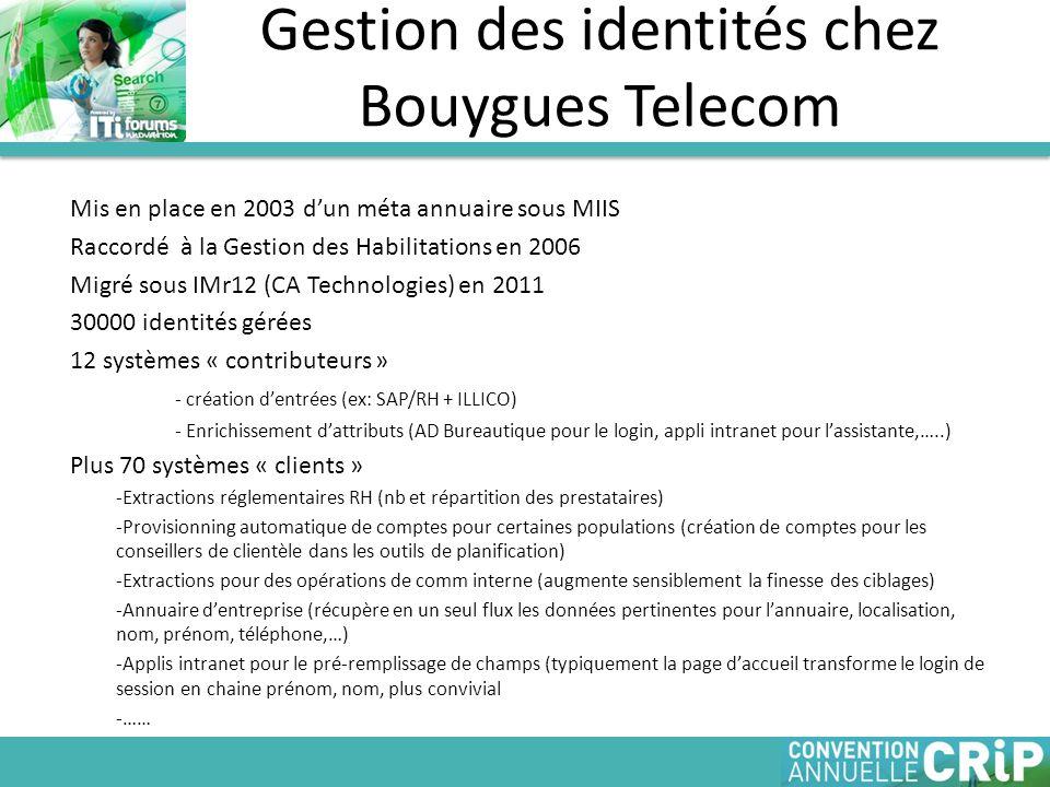 Gestion des identités chez Bouygues Telecom