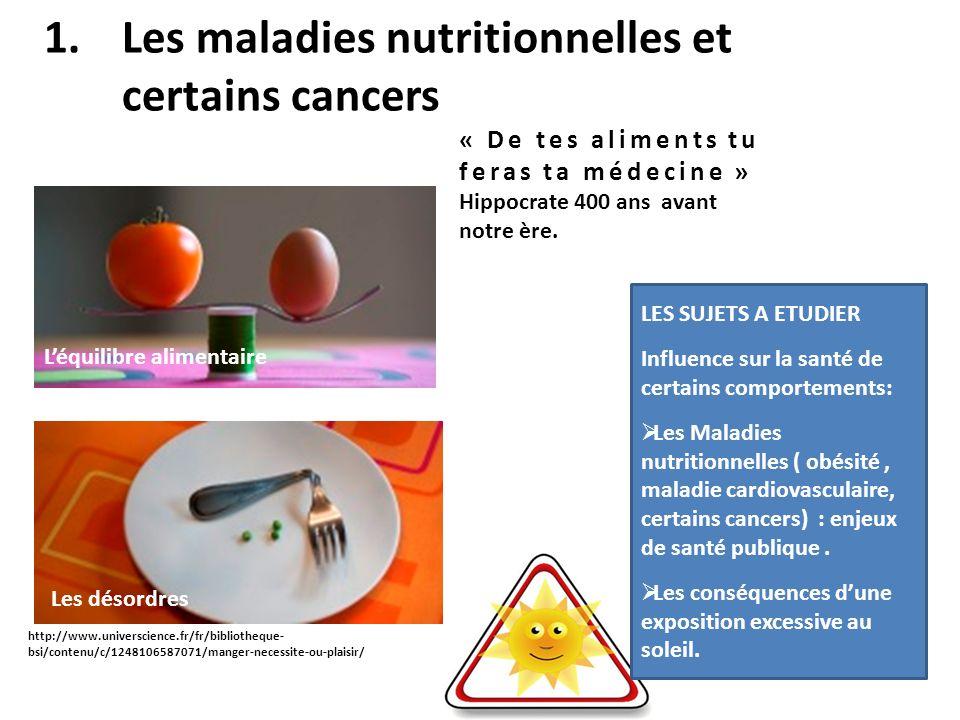 Les maladies nutritionnelles et certains cancers