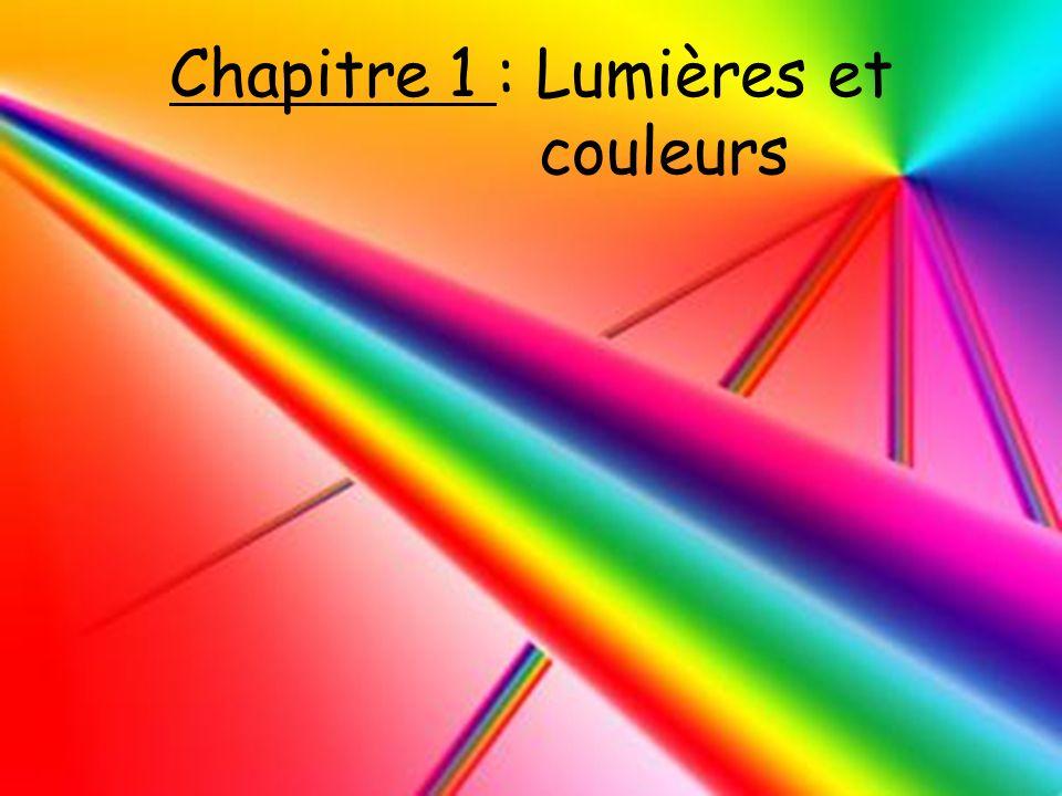 Chapitre 1 : Lumières et couleurs