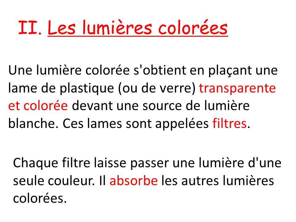 II. Les lumières colorées