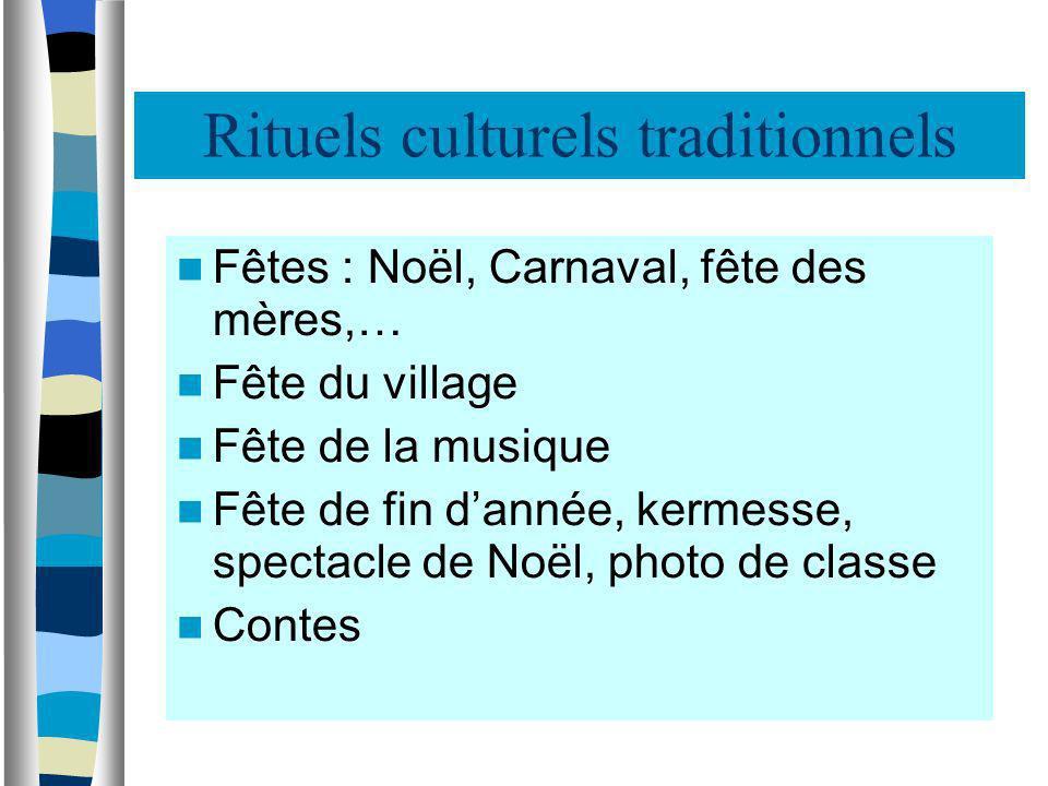 Rituels culturels traditionnels