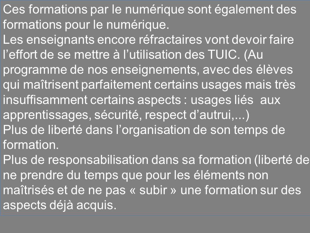 Ces formations par le numérique sont également des formations pour le numérique.