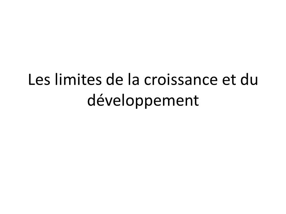 Les limites de la croissance et du développement