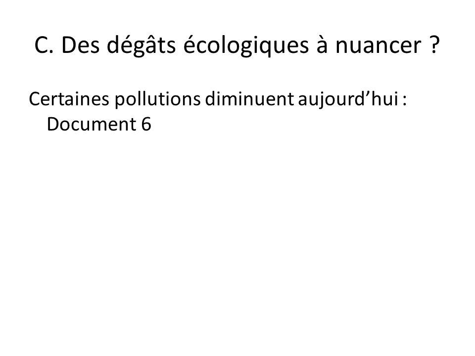 C. Des dégâts écologiques à nuancer