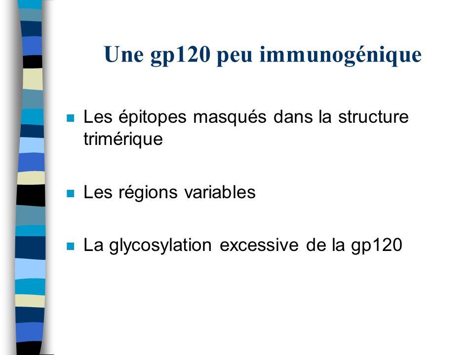 Une gp120 peu immunogénique