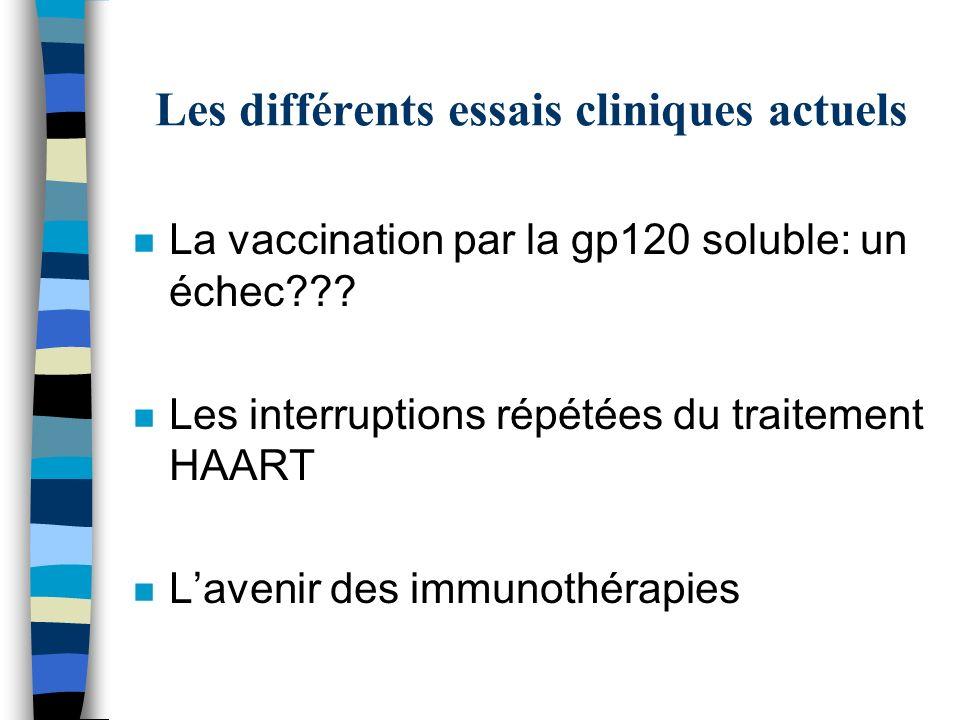 Les différents essais cliniques actuels