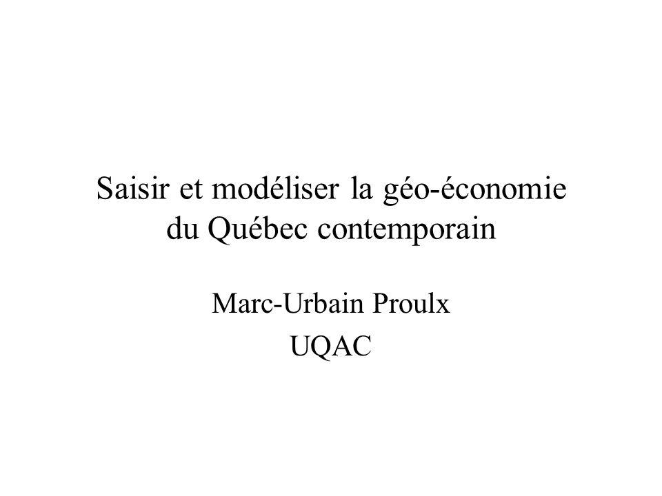 Saisir et modéliser la géo-économie du Québec contemporain