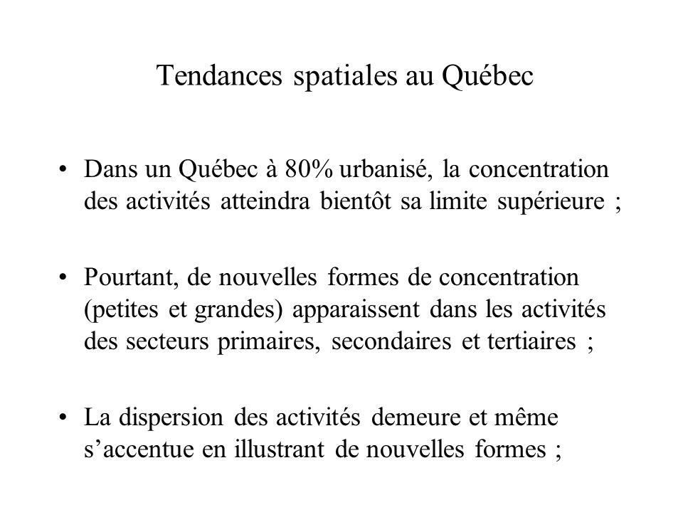 Tendances spatiales au Québec