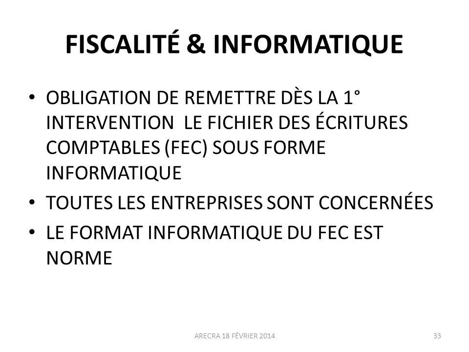 FISCALITÉ & INFORMATIQUE